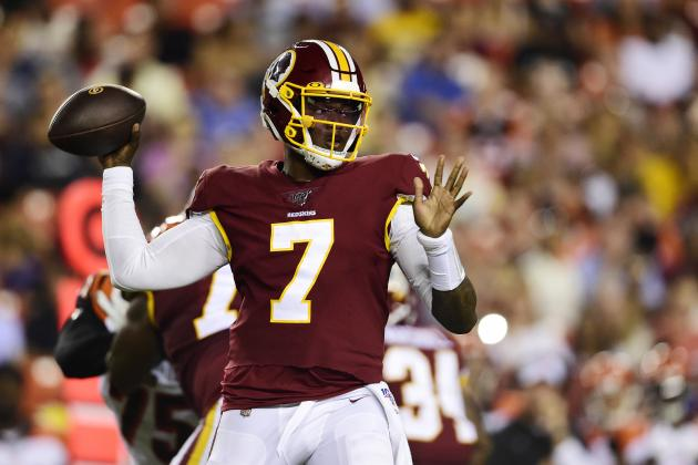 Dwayne Haskins Throws for 114 Yards, TD as Redskins Fall to Bengals in Preseason