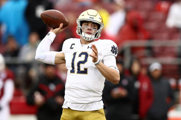 Ian Book, No. 16 Notre Dame Beat Stanford 45-24 in Rivalry Game
