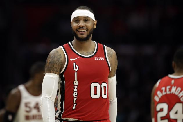 Blazers' Carmelo Anthony Not Listening to 'Bulls--t' Player of the Week Critics