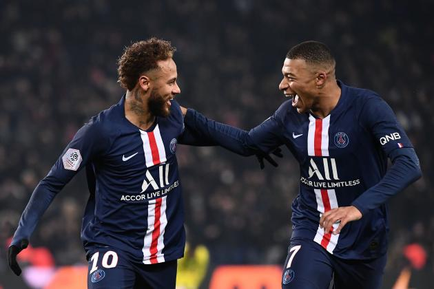 Kylian Mbappe, Neymar Score to Hand PSG Ligue 1 Win vs. Nantes