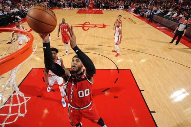 Damian Lillard, Trail Blazers Beat Rockets in Carmelo Anthony's Houston Return