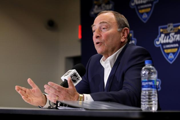 Gary Bettman: NHL Looking at 'Probably 8 or 9' Locations to Resume Season