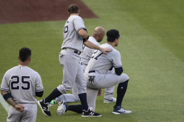 Yankees' Giancarlo Stanton Says Kneeling Shows 'We're Still in This Fight'