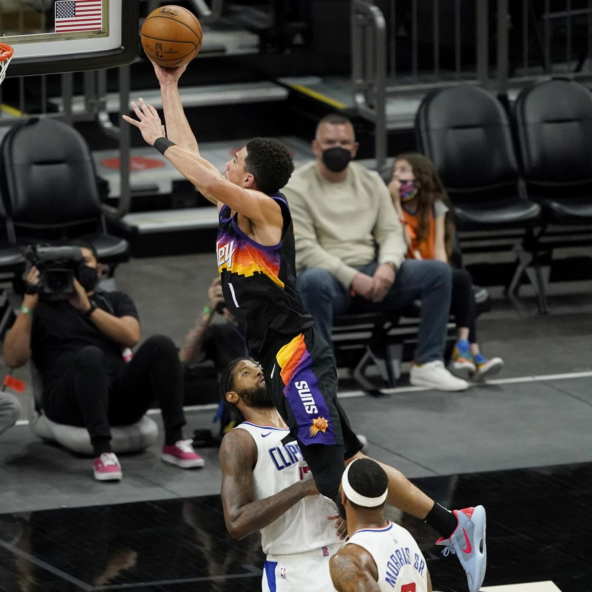 Devin Booker, Chris Paul, Suns Hold Off Paul George, Clippers for Crucial Win