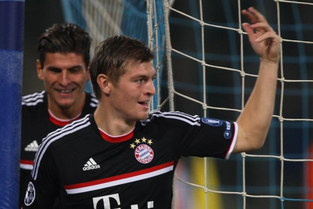 Bayern Munich's Toni Kroos and the Bundesliga Team of the Season so Far