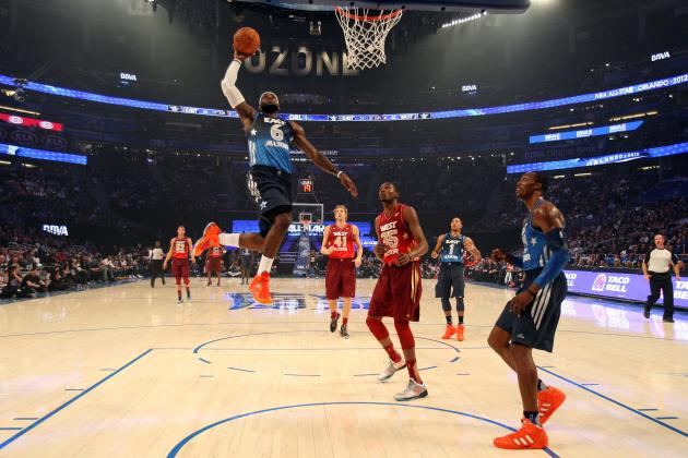 2012 NBA All-Star Game: The 10 Best Dunks from Yesterday's Jam Parade