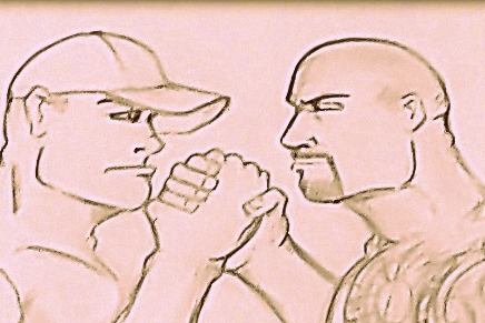 WWE WrestleMania 28 Sketchbook, the Matches, Pt. 1: Cena vs. the Rock