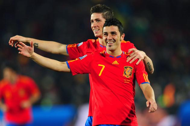David Villa and 5 Men to Lead the Spanish Line at Euro 2012
