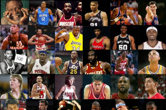 64-Player March Madness NBA Legends vs. Current Stars Tourney, Center Edition