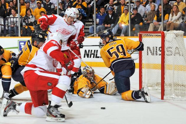 NHL Playoffs 2012: 5 Memorable Moments from Game 1 of the Predators vs Red Wings