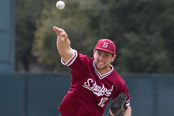 Andrew Luck's Ceremonial Pitch and Stanford Football-Baseball Stars