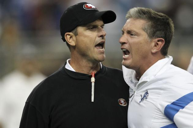 Jim Harbaugh vs. Jim Schwartz: 5 Predictions for Round 2 of Budding Rivalry