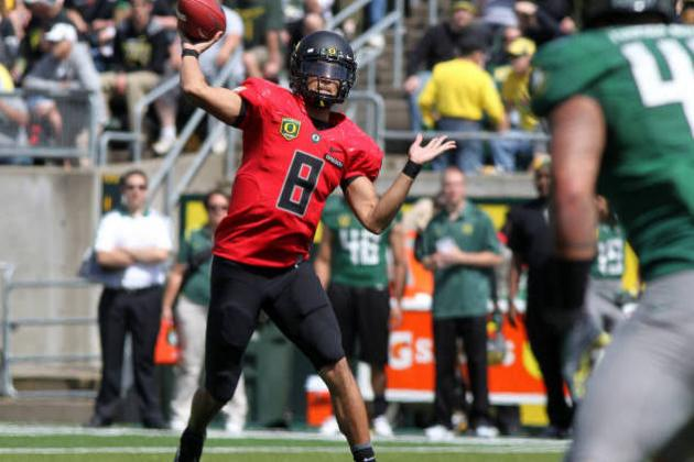Oregon Ducks QBs: Grading Bryan Bennett and Marcus Mariota on Spring Game