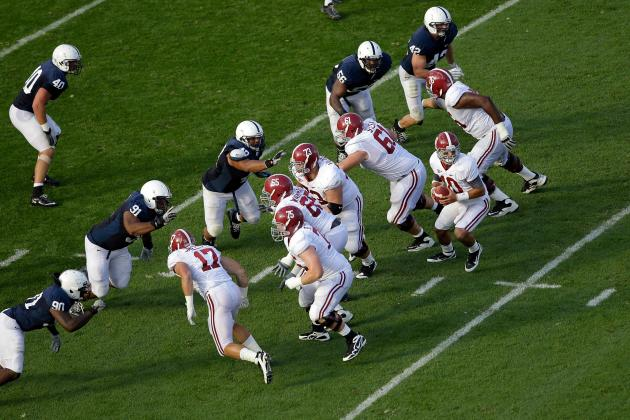 Power Ranking College Football's Top 15 Offensive Lines for 2012