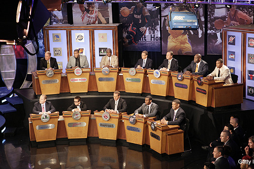 NBA Draft Lottery 2012: Who's Representing the Teams?