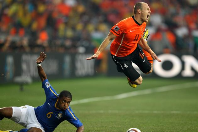 Euro 2012: Arjen Robben and the Biggest Diver on Each Side in Poland & Ukraine