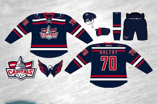 new concept c6bef eab8b The Uniform History Of The Washington Capitals : hockey