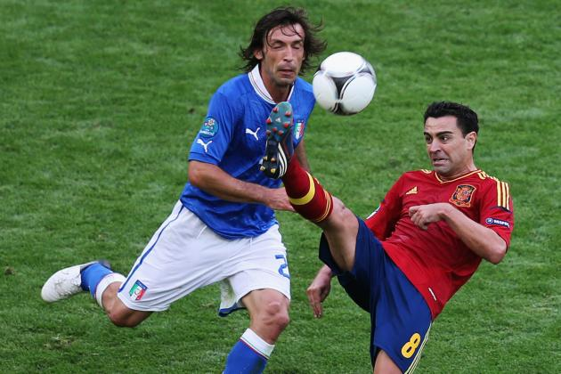 Euro 2012 Final: Why Xavi Hernandez vs. Andrea Pirlo Is the Key Duel