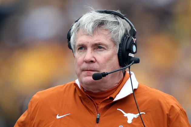 Texas Football: Where Mack Brown Will Rank on Coaches Hot Seat by Season's End