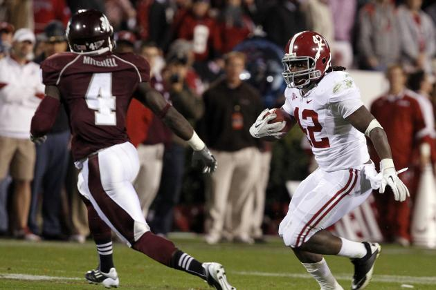 Alabama Football: Why Crimson Tide Are Best Suited for Committee of RBs in 2012