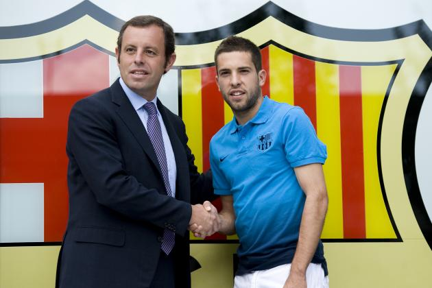 FC Barcelona: Picking a Starting XI to Include New Signing Jordi Alba