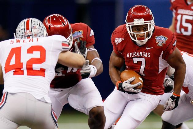 Arkansas Football: Knile Davis Talks Return from Injury at SEC Media Days