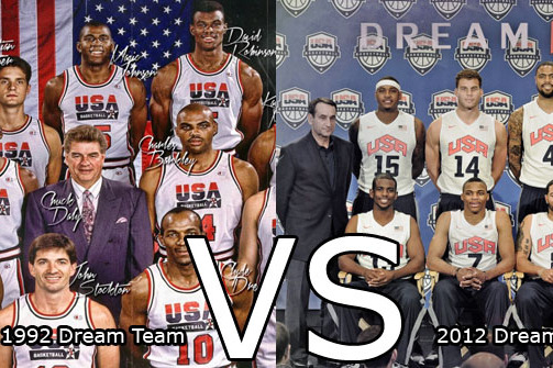 Dream Team vs. 2012 Team USA