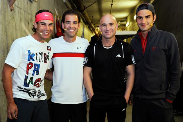 Roger Federer, Rafael Nadal, Novak Djokovic and 16 US Open Champions in One Draw