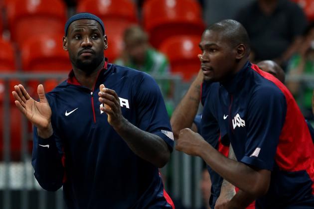 USA Basketball's Optimal Starting Lineup vs. Each Remaining Opponent