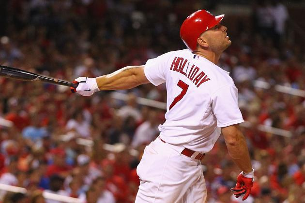 NL MVP Rankings: Cardinals' Matt Holliday Swings into the Top 5