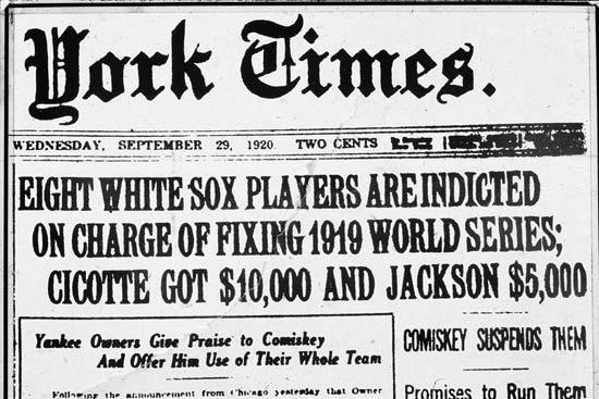 The Chicago Black Sox and the 30 Biggest Scandals in Baseball History