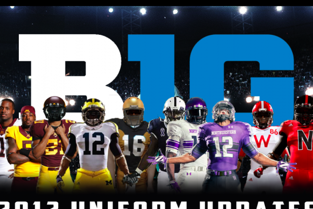 2012 Big Ten Football Uniform Updates