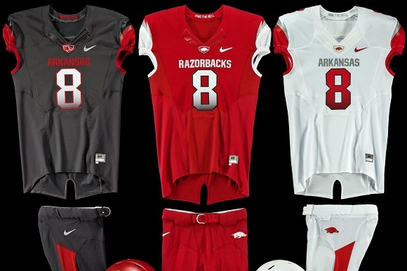 Arkansas Football Uniforms: Check out the Razorbacks' New Nike Pro Combat Design