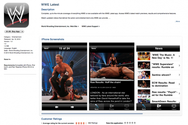WWE Releases iOS and Android App: Review and Features That Must Be Added