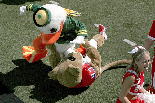 The 20 Funniest Mascot Fights Ever