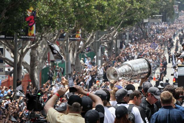 Los Angeles Kings: 10 Best Photos of the Kings with Stanley Cup This Summer