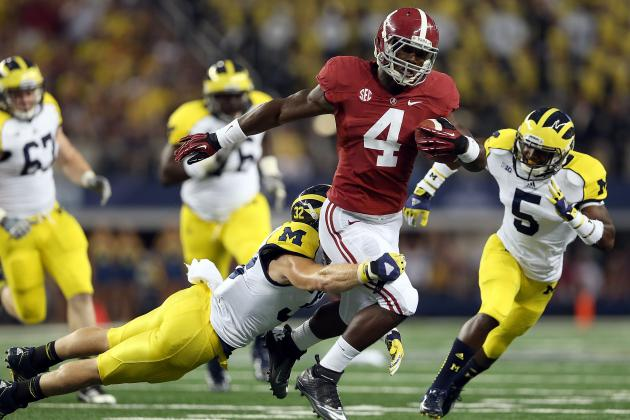 Odds Alabama's T.J. Yeldon Can Become First Freshman to Win Heisman Trophy