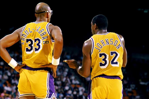 9 Things the 2013 Lakers Can Learn from Magic Johnson-Kareem Abdul-Jabbar Lakers
