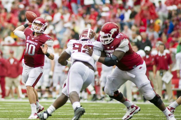 Arkansas Football: Grading All 22 Starting Positions from the Alabama Blowout