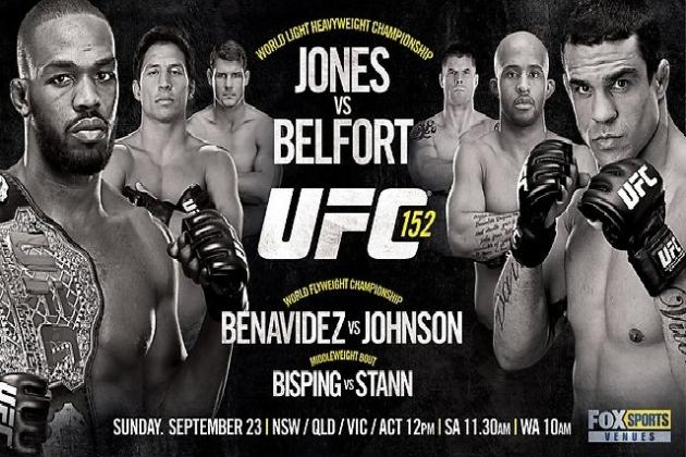 Jon Jones vs. Vitor Belfort: Preview, Odds and Predictions for UFC 152
