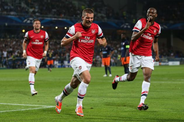 Arsenal vs. Montpellier: Player Ratings in Gunners' 2-1 Champions League Opener