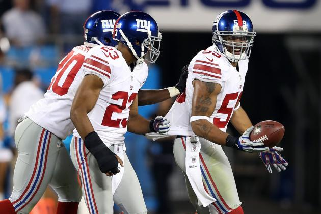 Handing out Game Balls for Giants' Week 3 Win vs. Panthers
