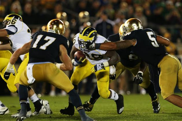 Notre Dame Football: Grading All 22 Starters from the Michigan Game