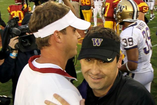 USC vs. Washington Has a Little Lane Kiffin vs. Steve Sarkisian to It