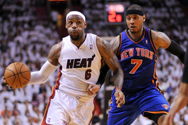 Updated Carmelo Anthony vs. LeBron James Tale of the Tape