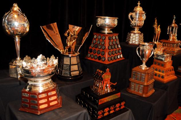 Handing out NHL Awards to Locked out Stars