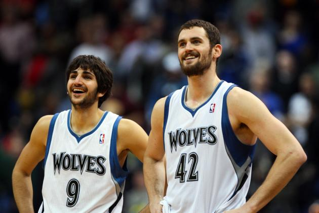 Ranking Ricky Rubio-Kevin Love with Best 1-2 Punches in the NBA
