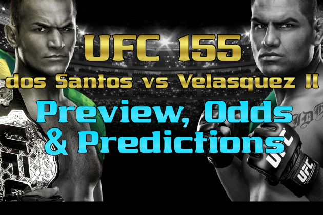 Junior Dos Santos vs. Cain Velasquez: Preview, Odds and Prediction for UFC 155