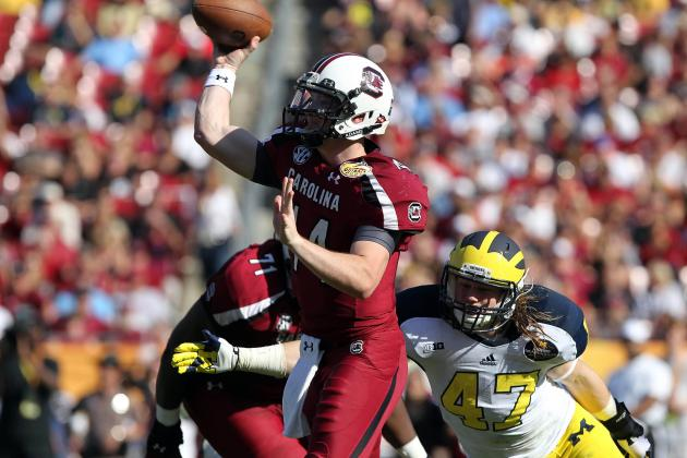 Outback Bowl 2013: Grading South Carolina and Michigan's Performances
