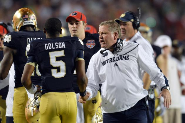 Notre Dame Football: Projecting the Irish's 2013 2-Deep Depth Chart